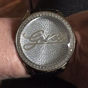 Guess blinged out watch